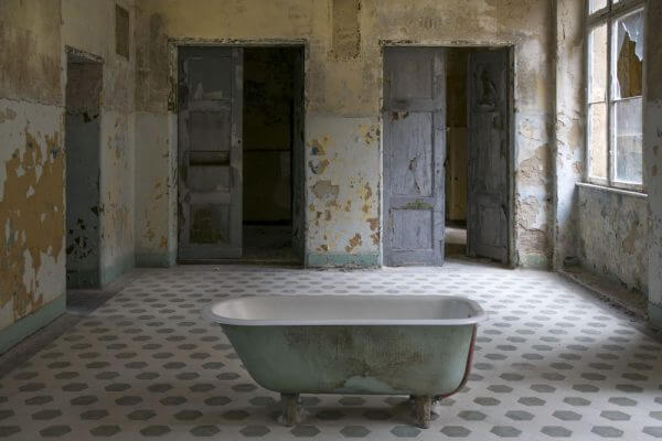 The Old Bath At A Bathhouse Of An Abondoned Sanatorium Near Berlin